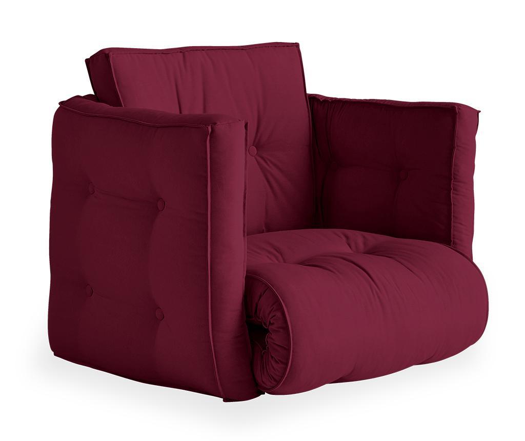 Fotoliu extensibil Dice Futon Bordeaux - Karup Design, Rosu imagine