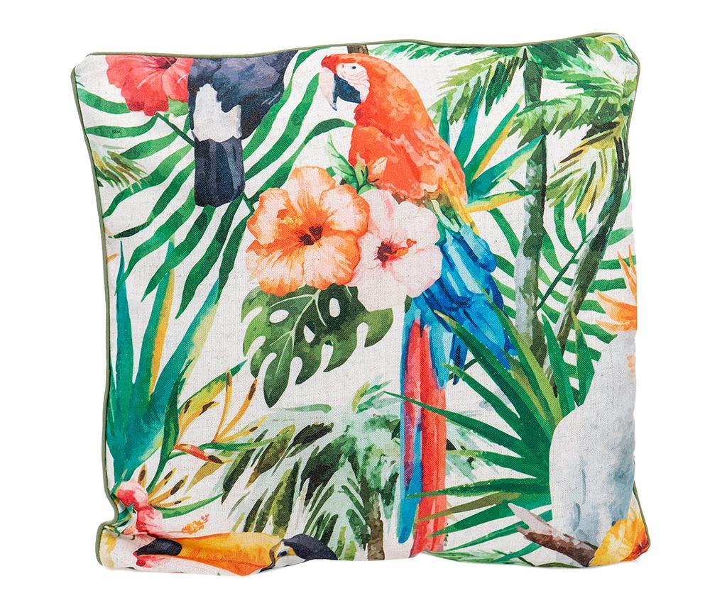 Perna decorativa Colorful Parrot 45x45 cm - Garpe Interiores