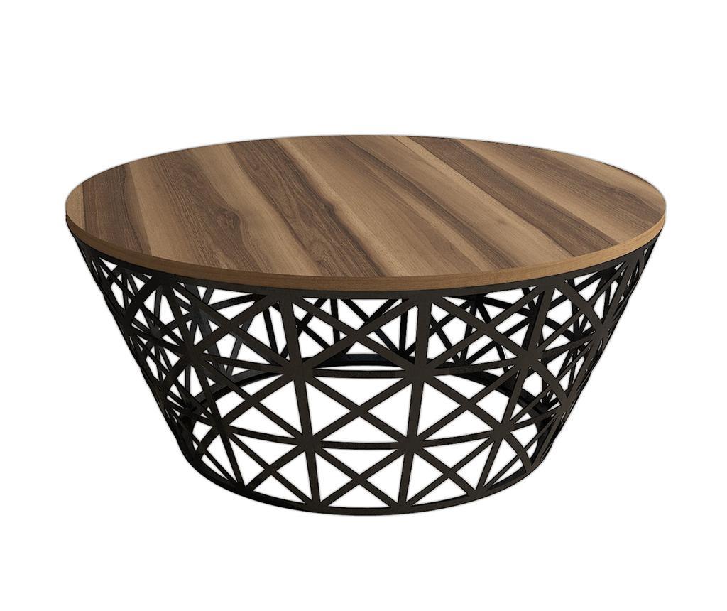 Masuta de cafea Modernist Slim - Wooden Art, Maro imagine