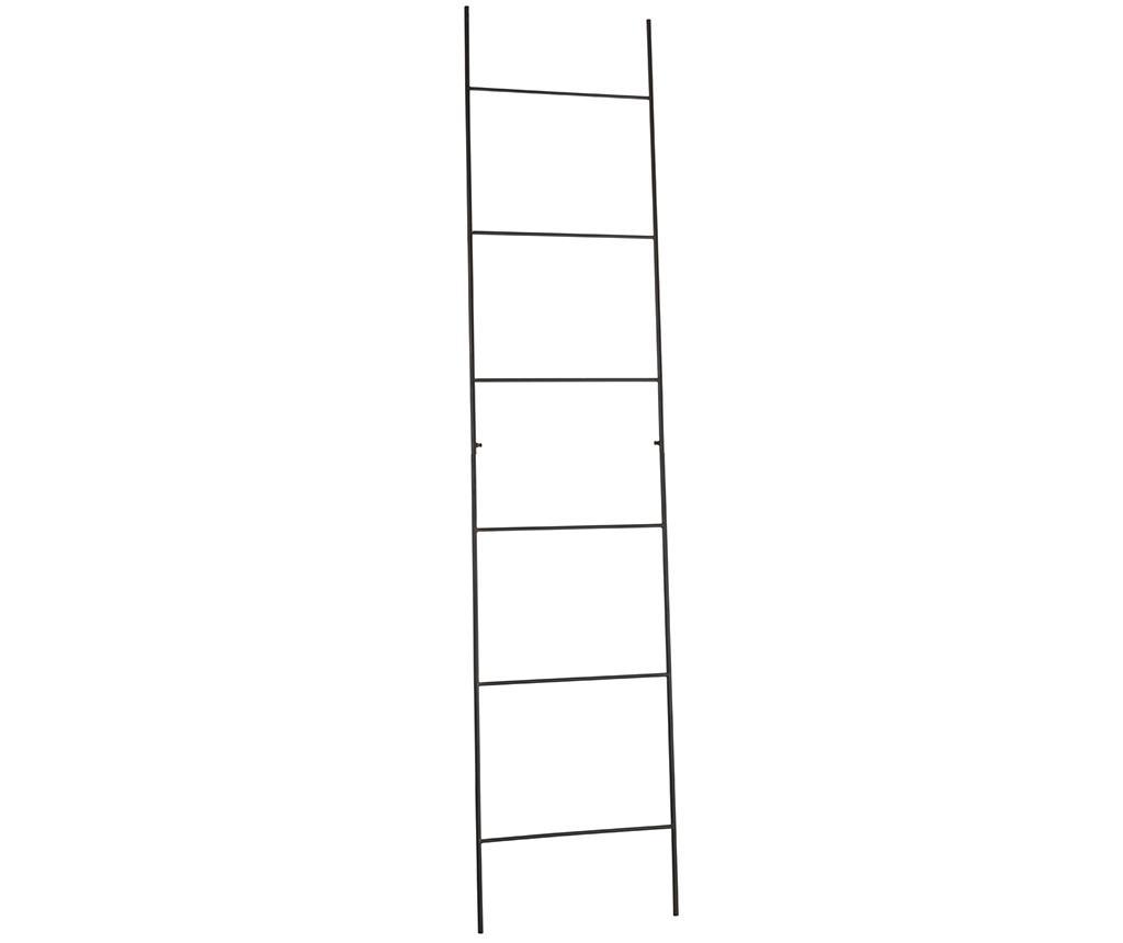 Suport pentru prosoape Ladder - J-line, Negru