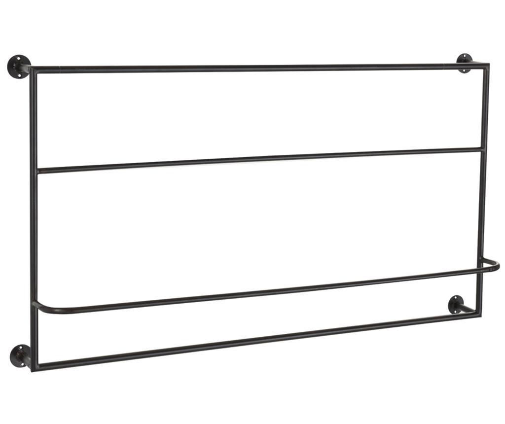 Suport pentru prosoape Racka - J-line, Negru