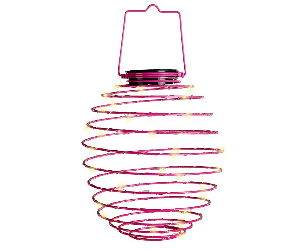 Lampa solara Spiral Pink - Garden Pleasure, Roz imagine