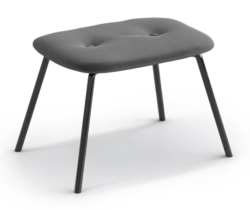 Taburet pentru picioare Tilda Monolith Metal Grey imagine