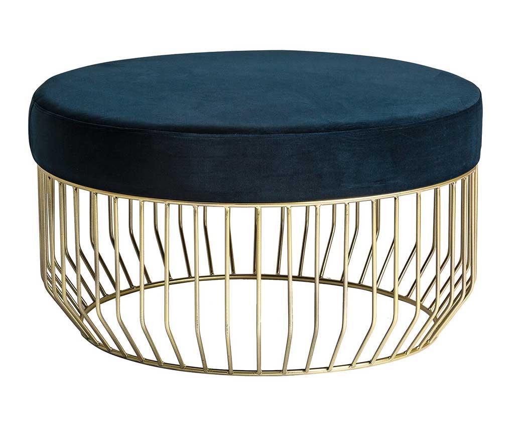 Masuta de cafea Glam Stripes - Vical Home, Albastru,Galben & Auriu