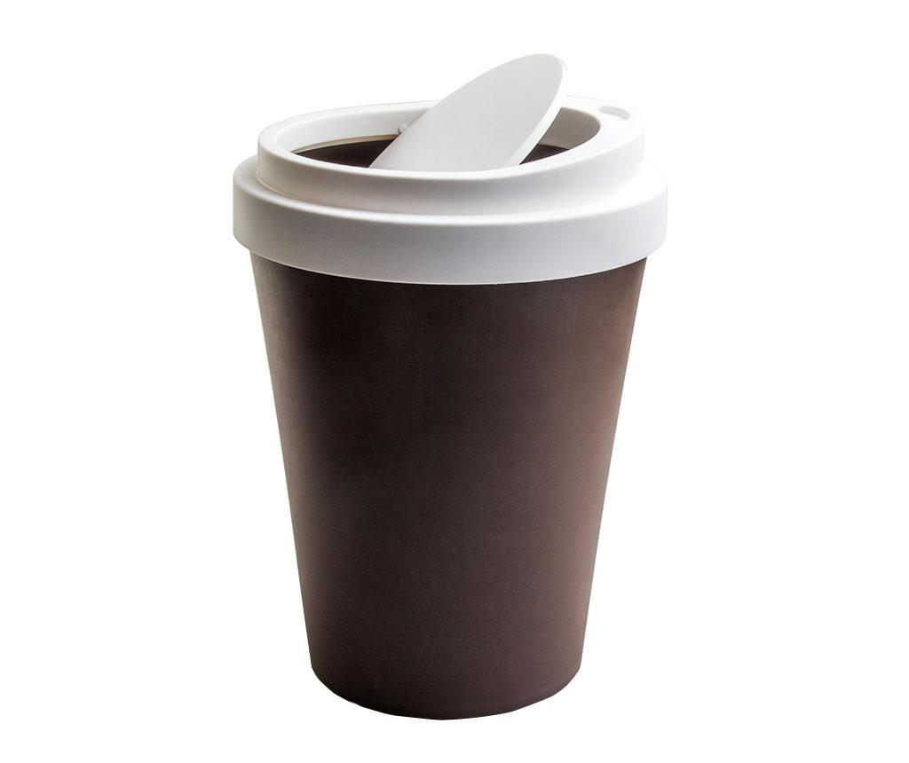 Cos de gunoi cu capac Coffee Brown 7.9 L imagine