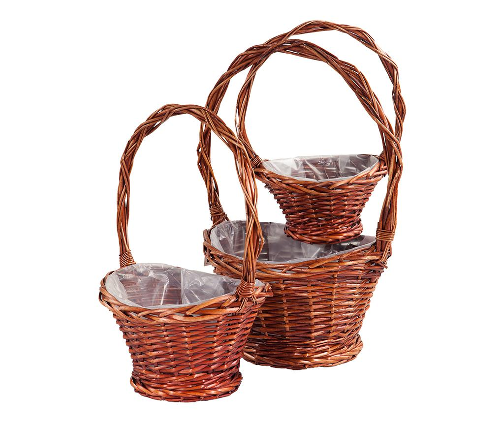 Set 3 ghivece Rustic Baskets