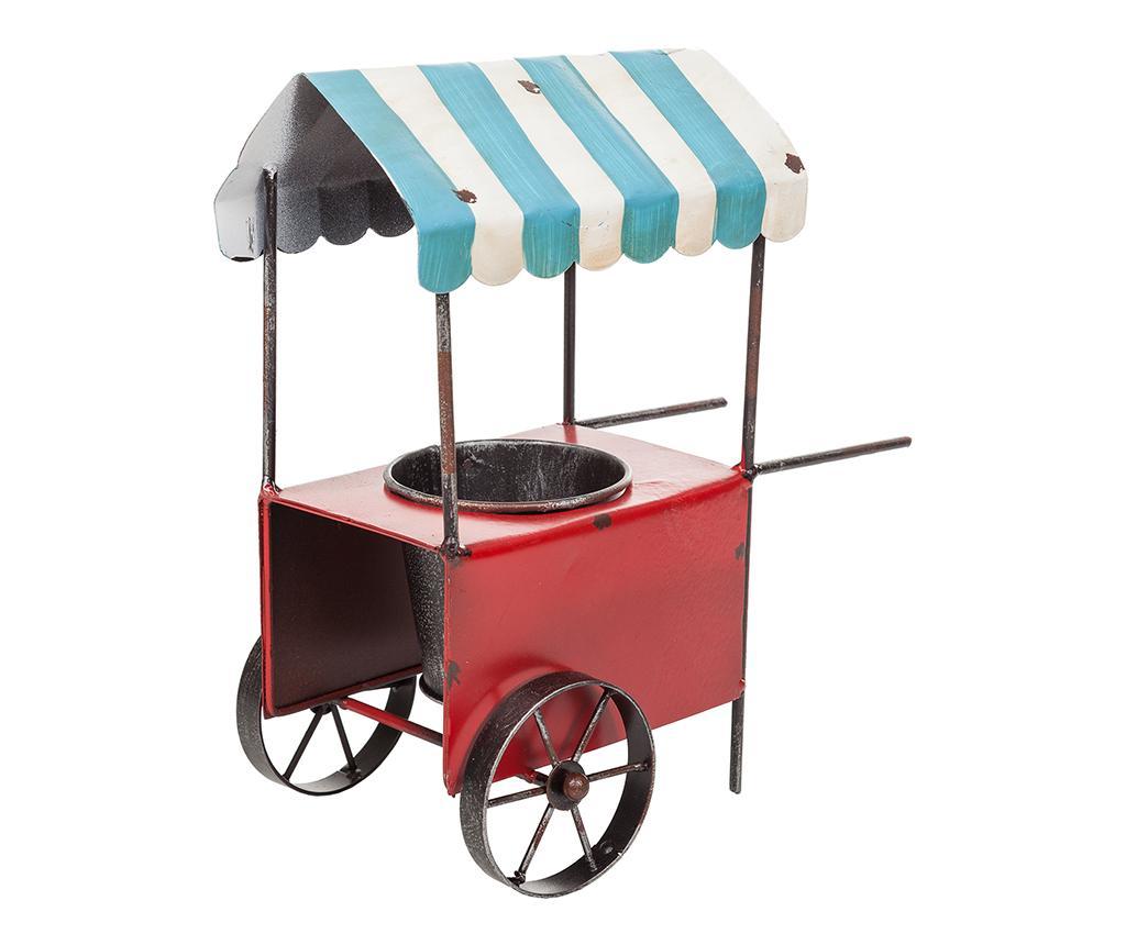 Suport pentru ghiveci Vintage Cart - Creaciones Meng, Rosu imagine