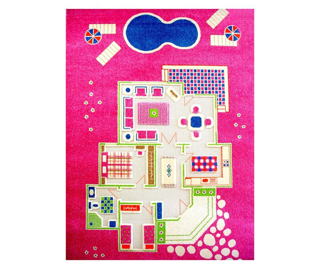 Covor de joaca Playhouse Big 3D Pink 134x200 cm vivre.ro