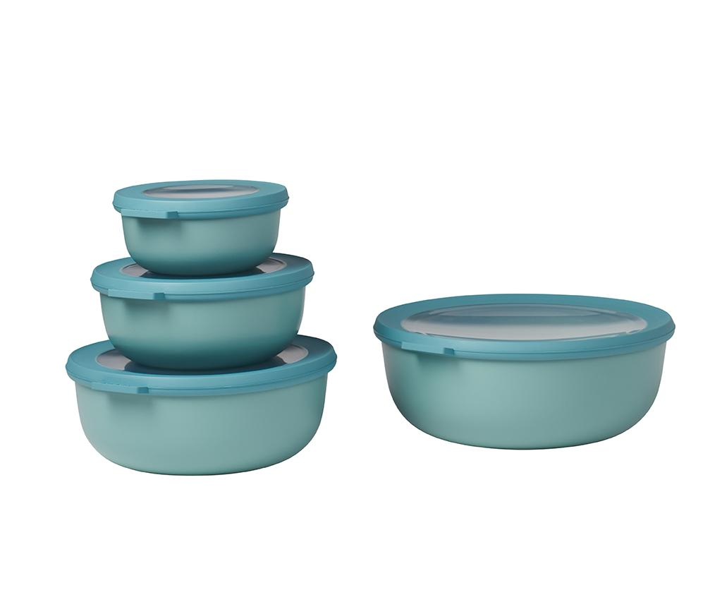 Set 4 caserole cu capac Nordic Green - Rosti Mepal, Verde imagine