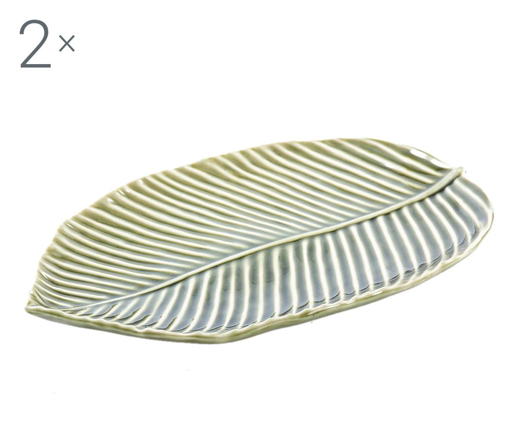Set 2 platouri Be Leaf - Garpe Interiores, Verde poza