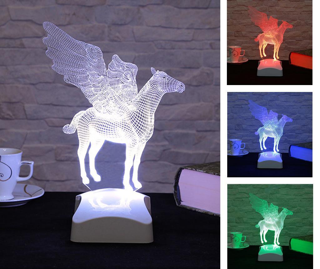 Lampa de veghe Pegasus 3D - Evila Originals, Multicolor