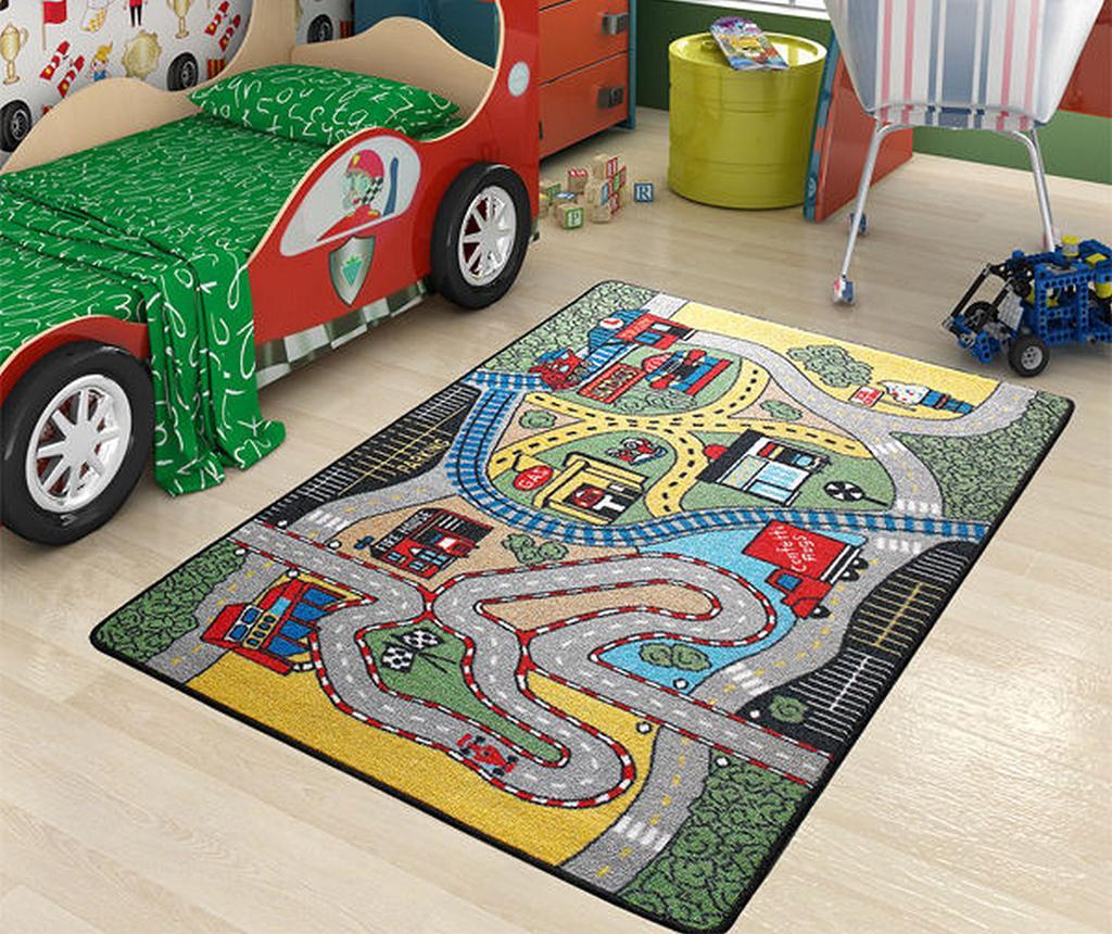 Covor de joaca Race 100x150 cm - Eko Halı, Multicolor imagine