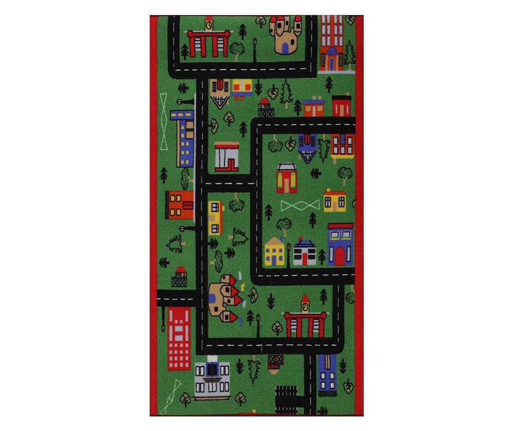Covor de joaca Town 80x150 cm - Confetti, Verde imagine