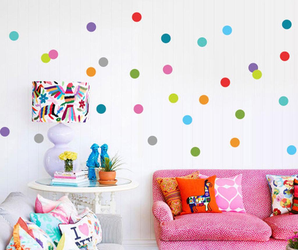 Set 36 stickere Multi Dots - Evila Originals, Multicolor