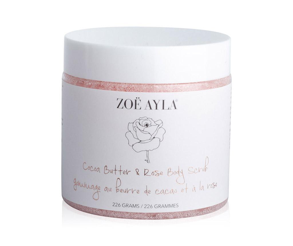 Gel exfoliant pentru corp Cocoa Butter & Rose Body - Zoe Ayla imagine