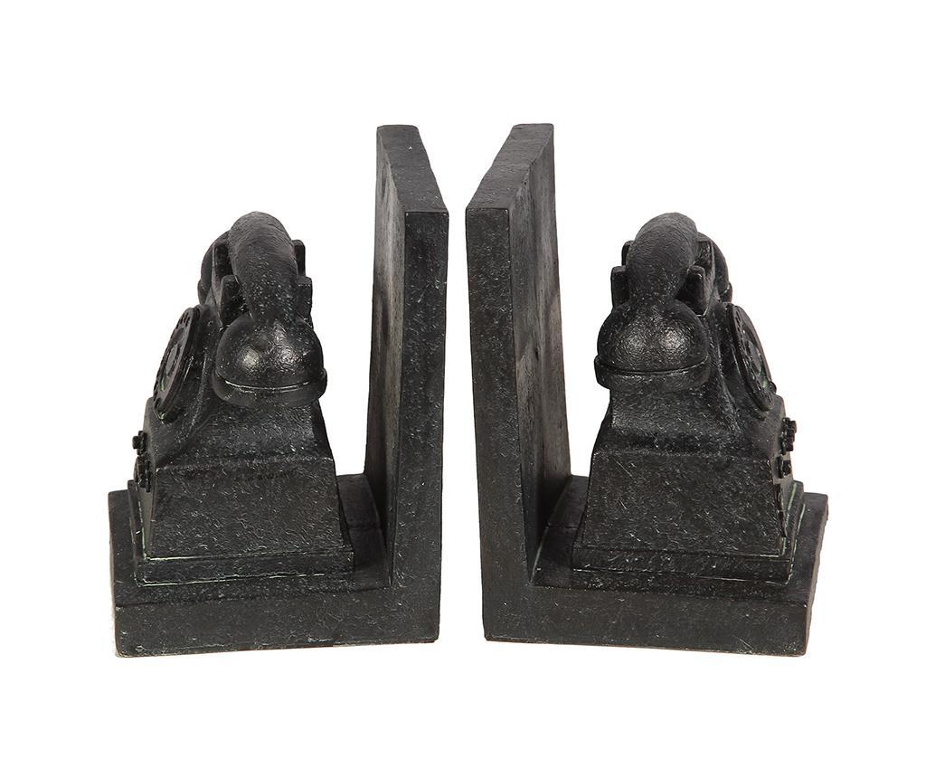 Set 2 suporturi pentru carti Telephone - Ambiente Haus, Negru imagine