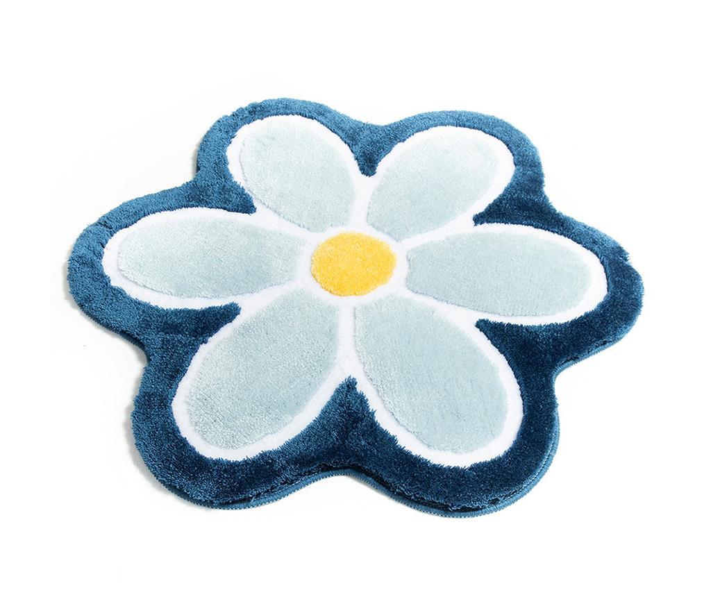 Covoras de baie Flower Blue 90 cm vivre.ro