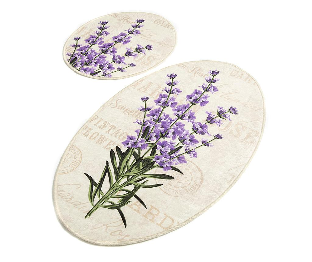 Set 2 covorase de baie Lavender DJT - Chilai Home, Multicolor