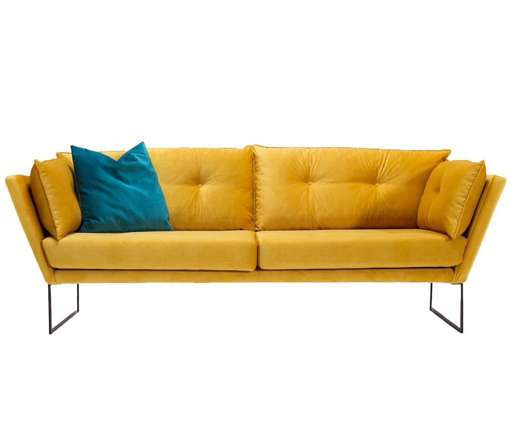 Canapea 3 locuri Relax Mustard Yellow - Balcab Home, Galben & Auriu imagine