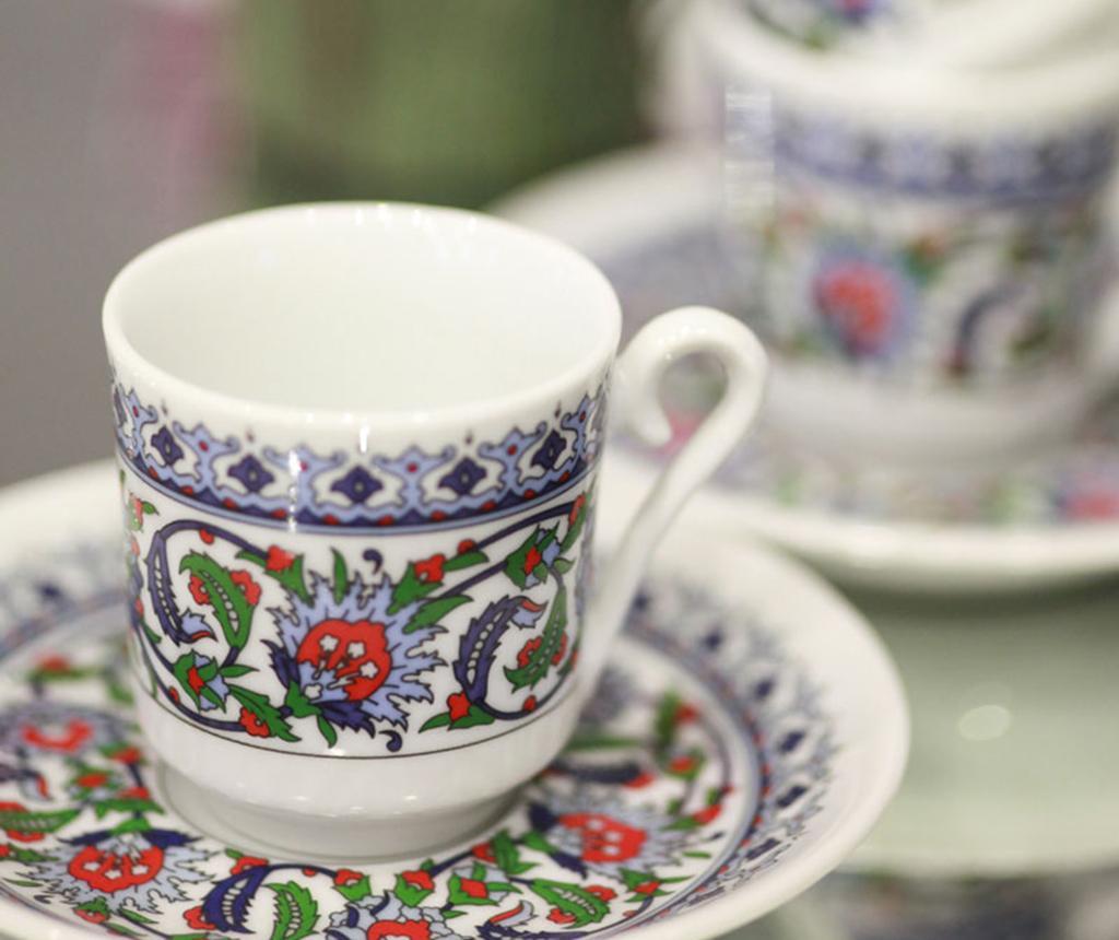 Set 6 cesti si 6 farfurioare Espresso Tradition - Kütahya Porselen, Multicolor vivre.ro