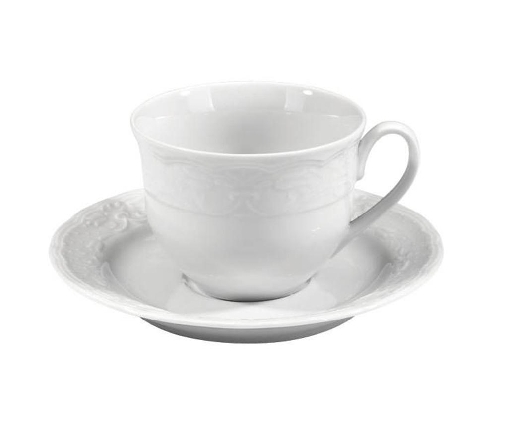 Set 6 cesti si 6 farfurioare Espresso Basic - Kütahya Porselen, Alb imagine
