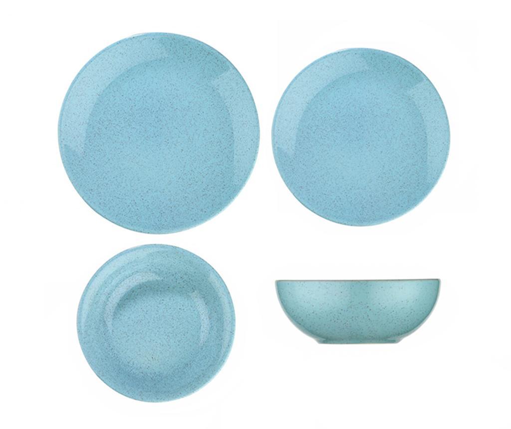 Set de masa 24 piese Granit Ocean - Kütahya Porselen, Albastru imagine