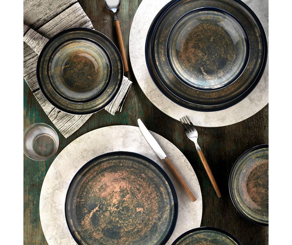 Set de masa 24 piese Golden Spark - Kütahya Porselen, Galben & Auriu imagine