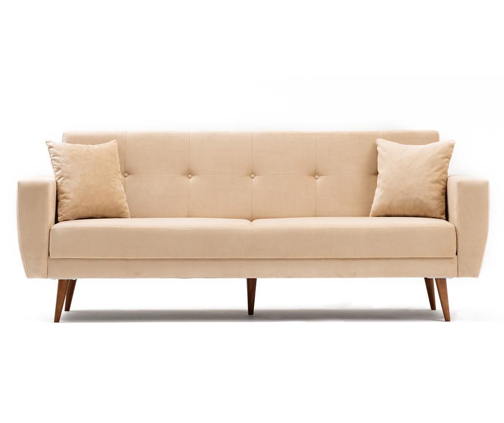Canapea extensibila cu 3 locuri Vivalde Cream - Balcab Home, Crem imagine