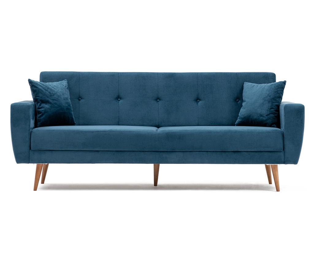 Canapea extensibila cu 3 locuri Vivalde Sax Blue - Balcab Home, Albastru imagine