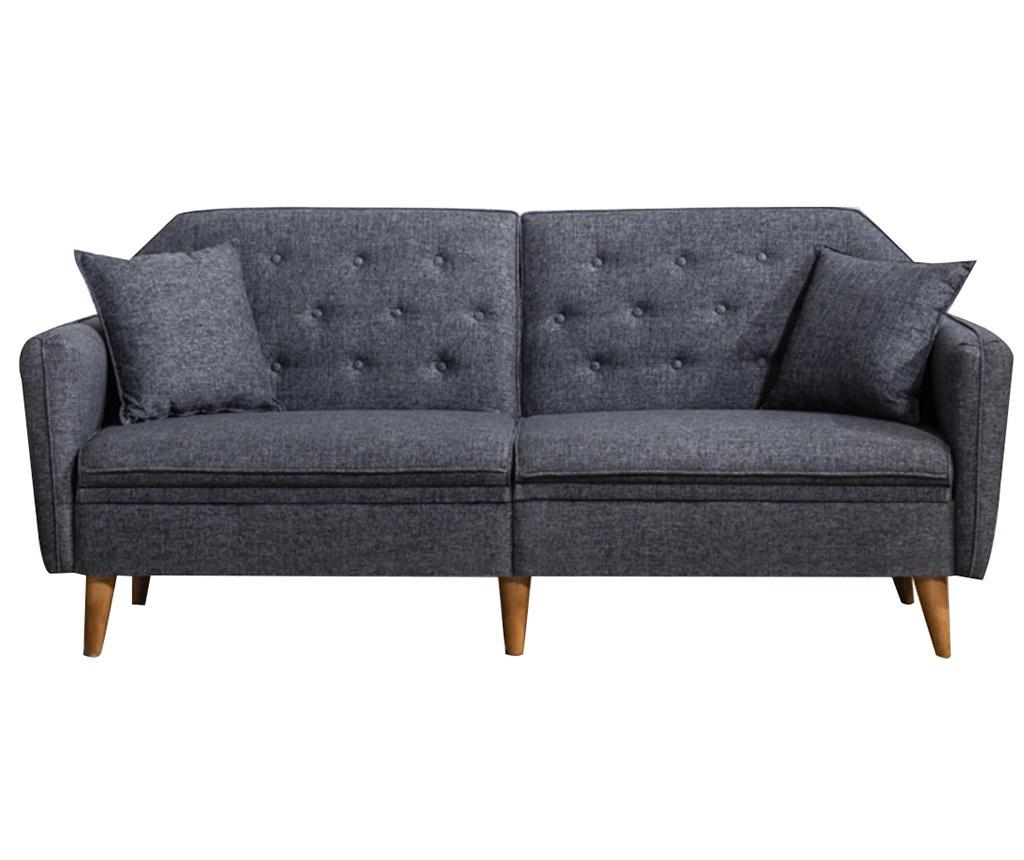 Canapea extensibila cu 3 locuri Susan Grey - Unique Design, Gri & Argintiu imagine