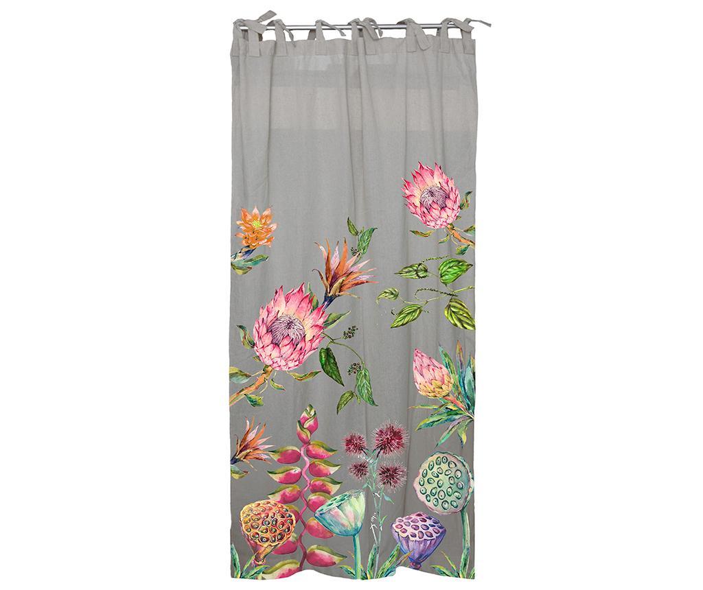 Draperie Wild Flowers Grey 140x270 cm - Surdic, Gri & Argintiu poza