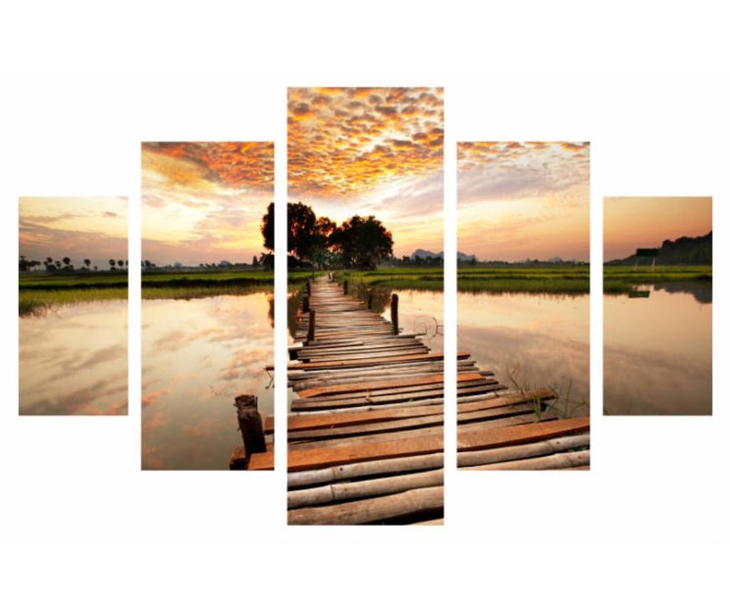 Set 5 tablouri Long way vivre.ro