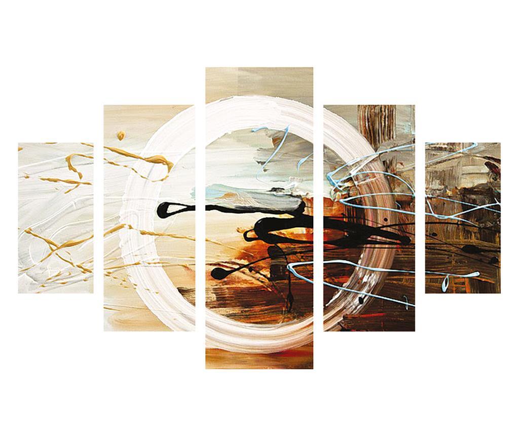 Set 5 tablouri Circle - Destiny, Multicolor imagine