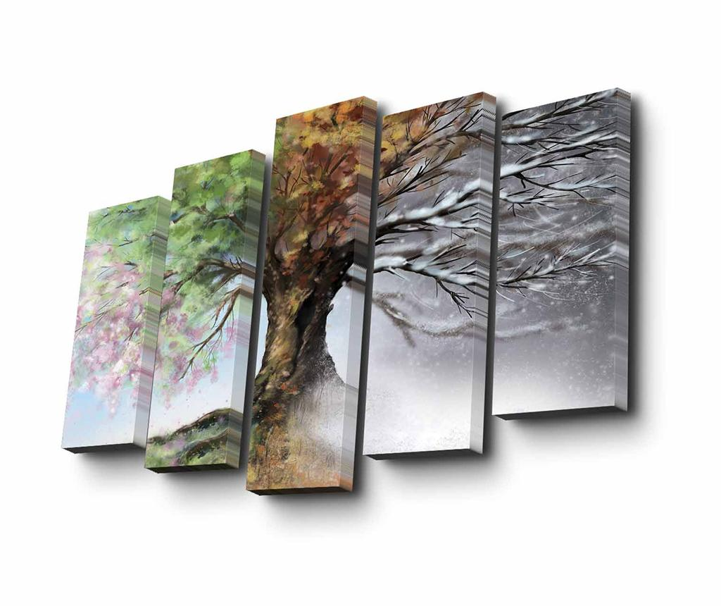 Set 5 tablouri Seasons - Art Five imagine