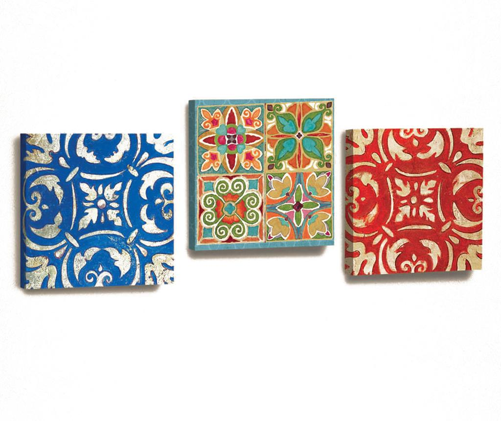 Set 3 tablouri Patch 33x33 cm