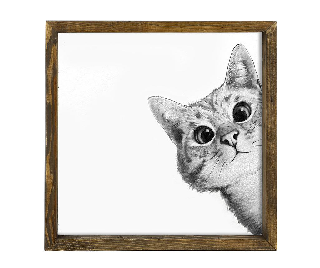 Tablou Curiousity 34x34 cm - Evila Originals imagine