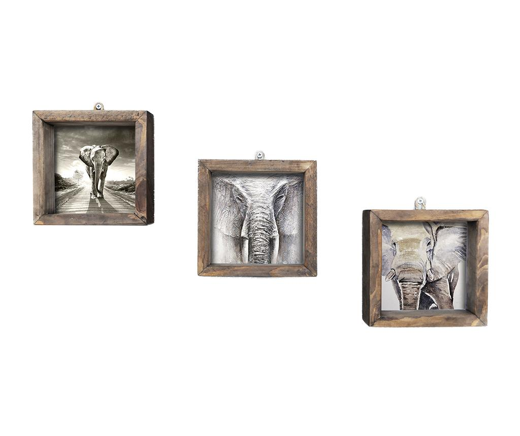 Set 3 tablouri Grey 15x15 cm imagine