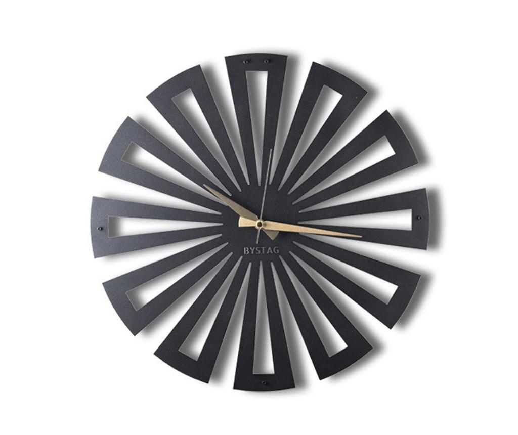 Ceas de perete Petals - Bystag, Negru imagine