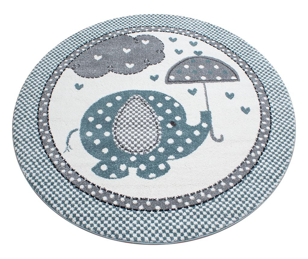 Covor Elephant Round Blue 120 cm - Ayyildiz Carpet, Albastru imagine