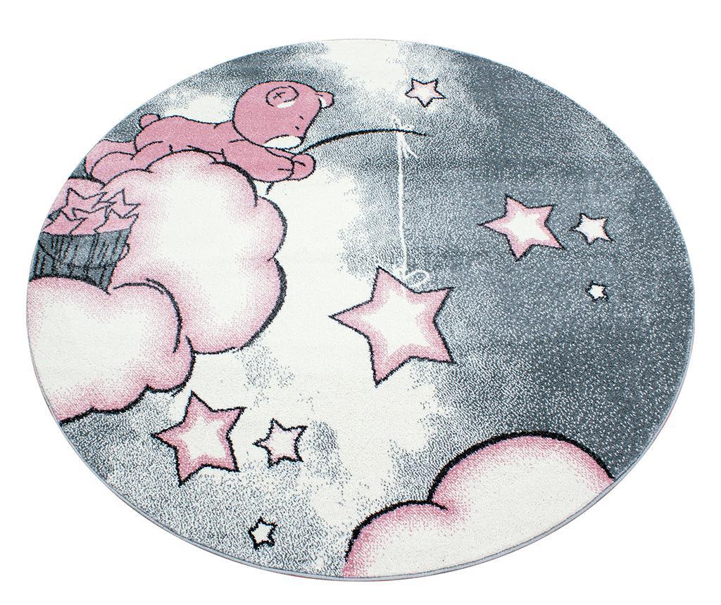 Covor Teddy bear Round Pink 120 cm - Ayyildiz Carpet, Roz imagine