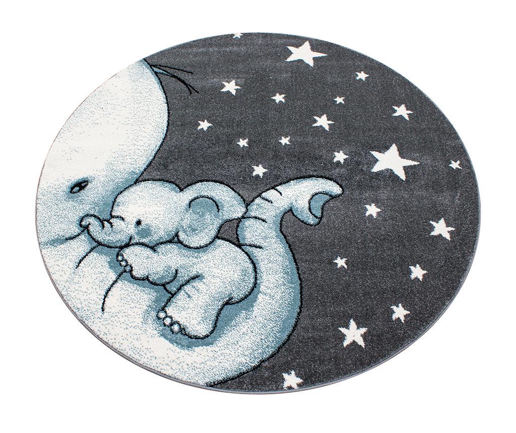 Covor Baby Elephant Round Blue 160 cm - Ayyildiz Carpet, Albastru imagine