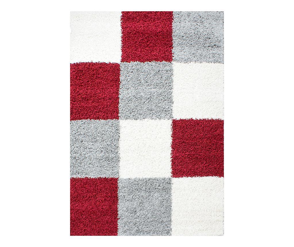 Covor Life Squares Red 120x170 cm - Ayyildiz Carpet, Rosu vivre.ro