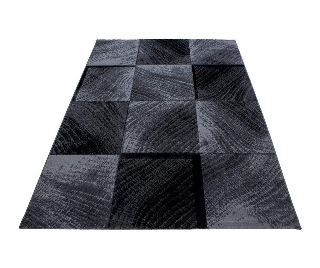 Covor Plus Waved Squares Black 200x290 cm - Ayyildiz Carpet, Negru imagine