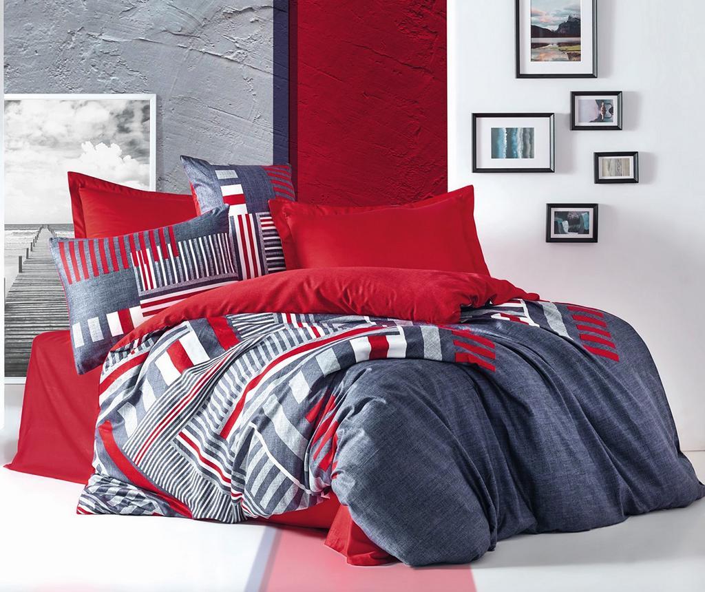 Lenjerie de pat King Satin Supreme Roxy Red 200x220