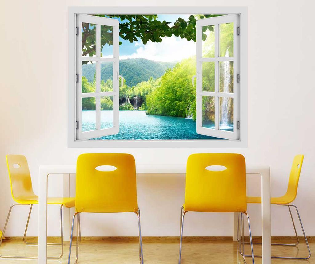 Sticker 3D Window Croatia Lake - BeeStick, Multicolor imagine