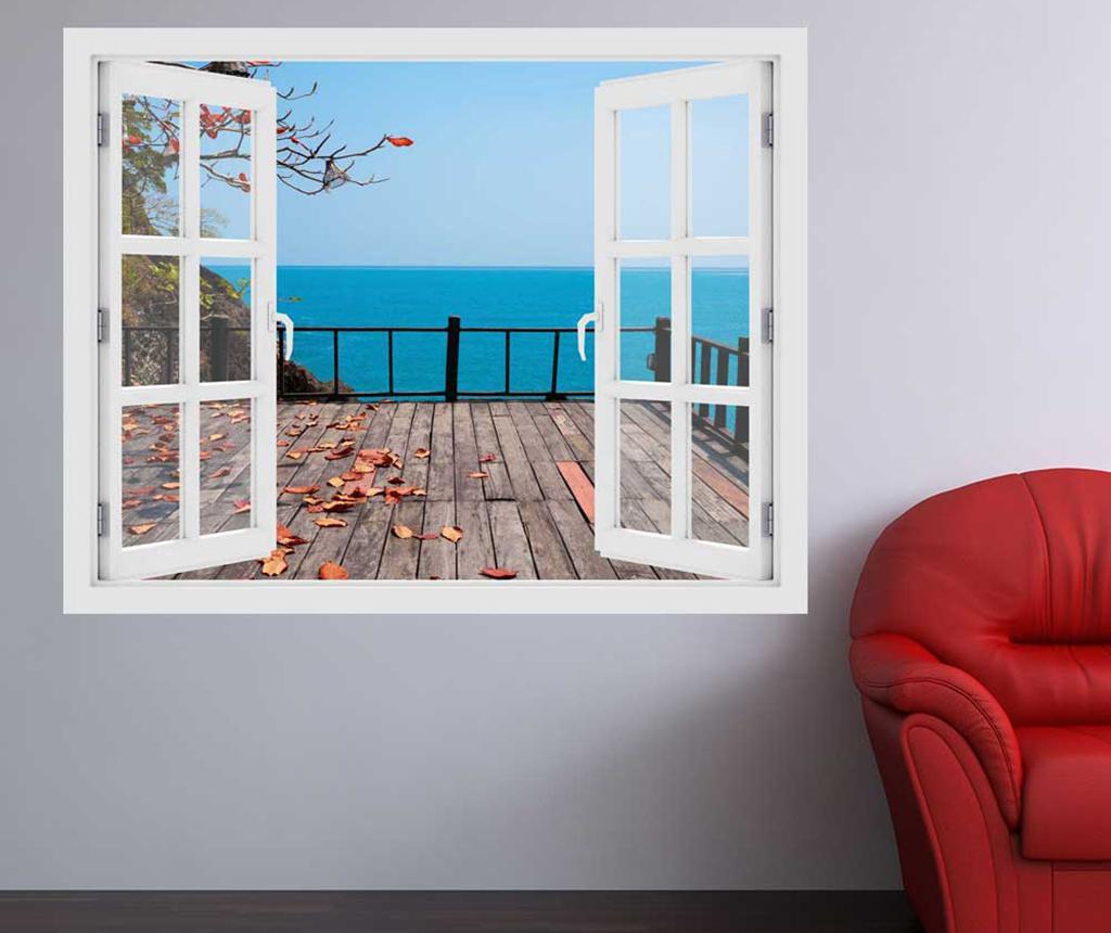 Sticker 3D Window Ocean Terrace imagine
