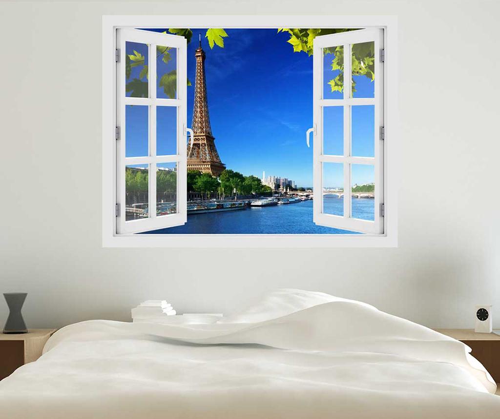 Sticker 3D Window Eiffel Tower - BeeStick, Multicolor