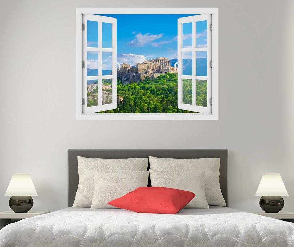 Sticker 3D Window Greece Acropolis imagine