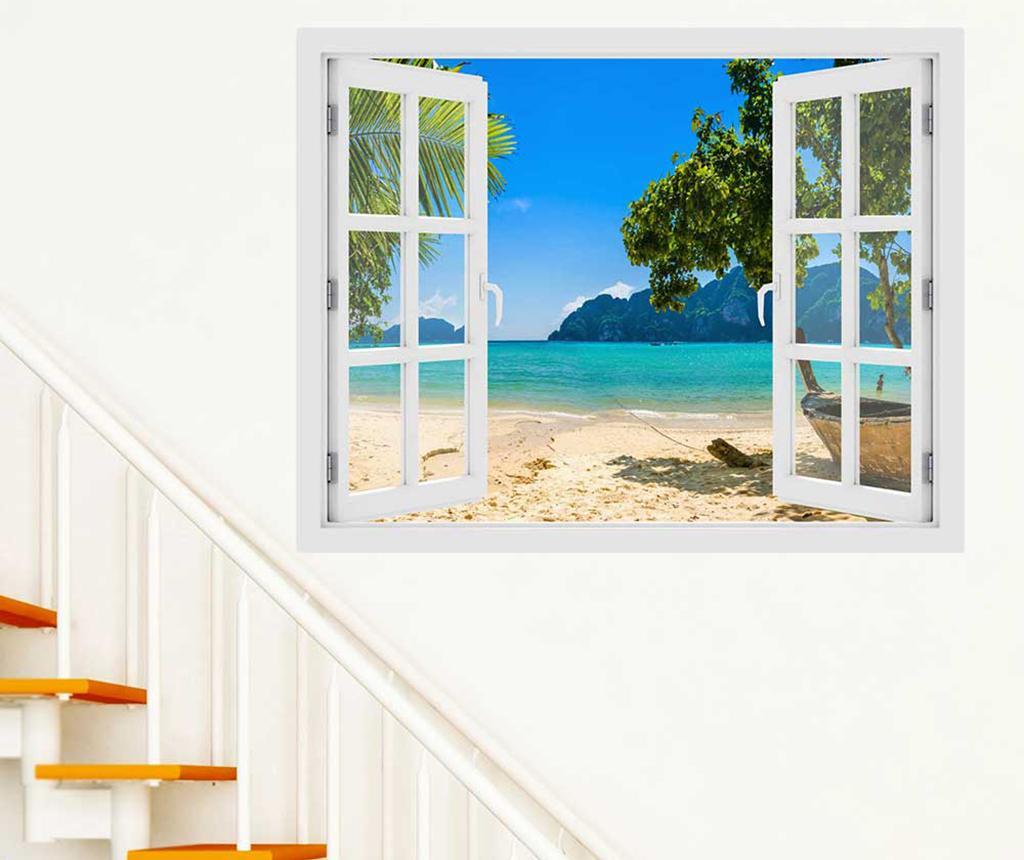 Sticker 3D Window Phi Phi Island - BeeStick, Multicolor imagine