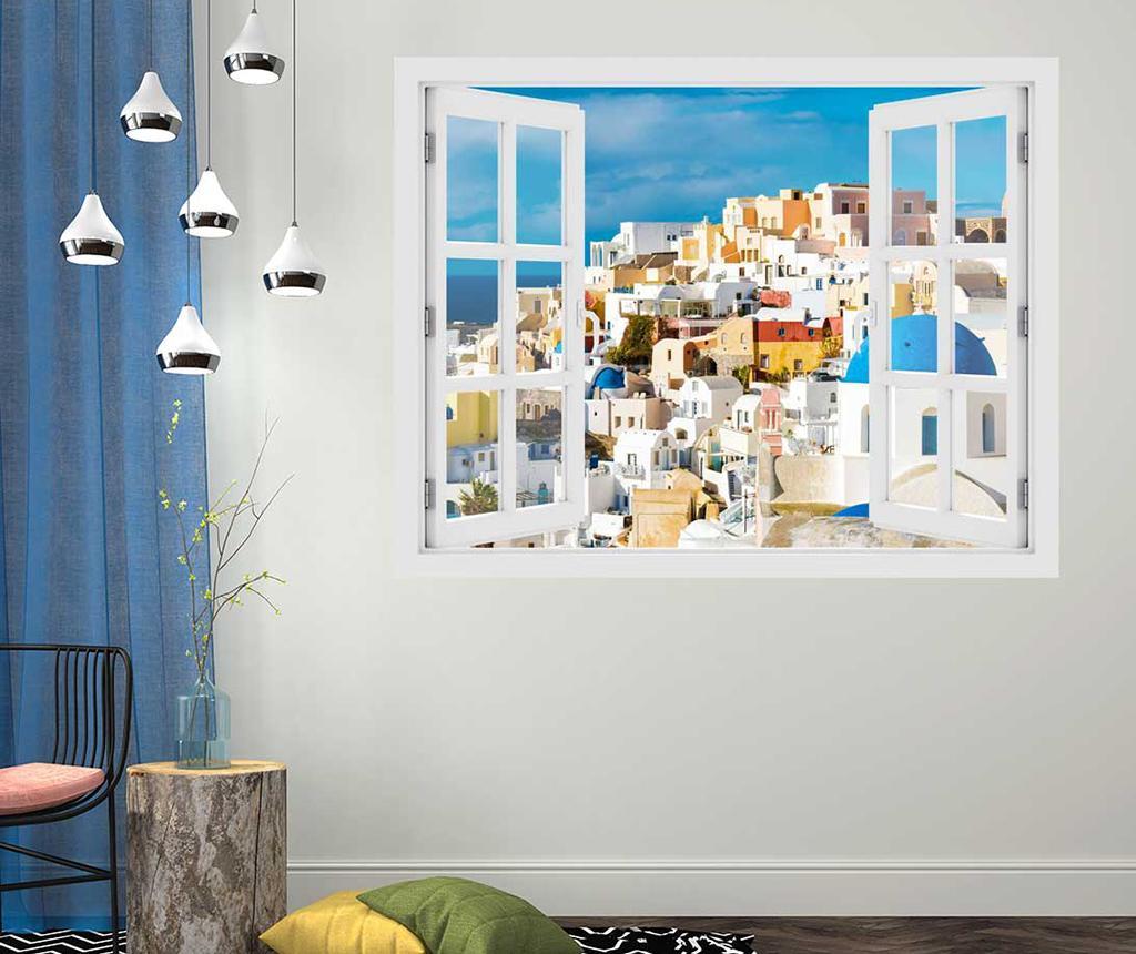 Sticker 3D Window Greece Santorini imagine